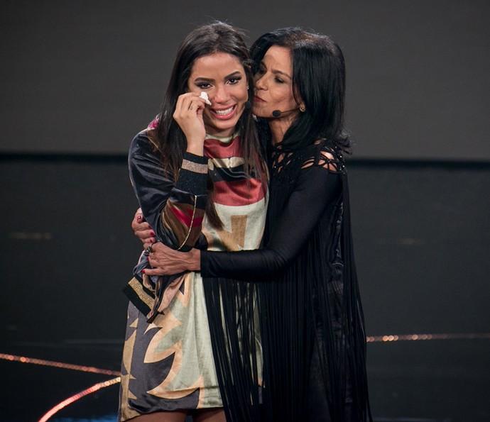 Anitta se emociona com homenagem da mãe (Foto: Isabella Pinheiro/Gshow)