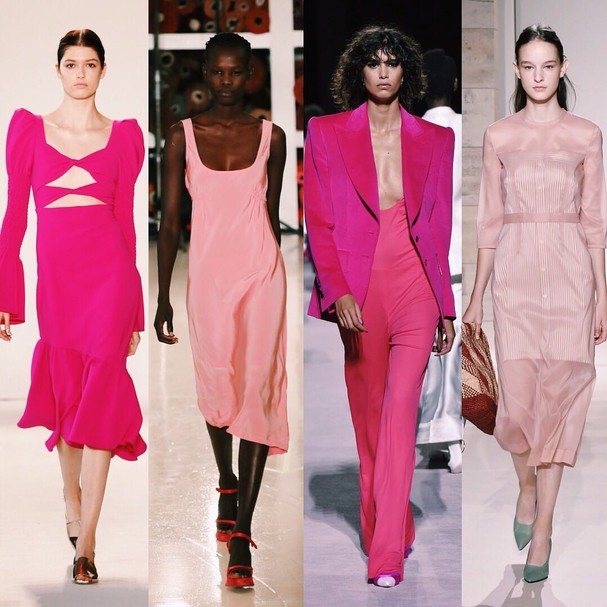 Verão 2018 na NYFW: pink (Foto: Getty Images e Imaxtree)
