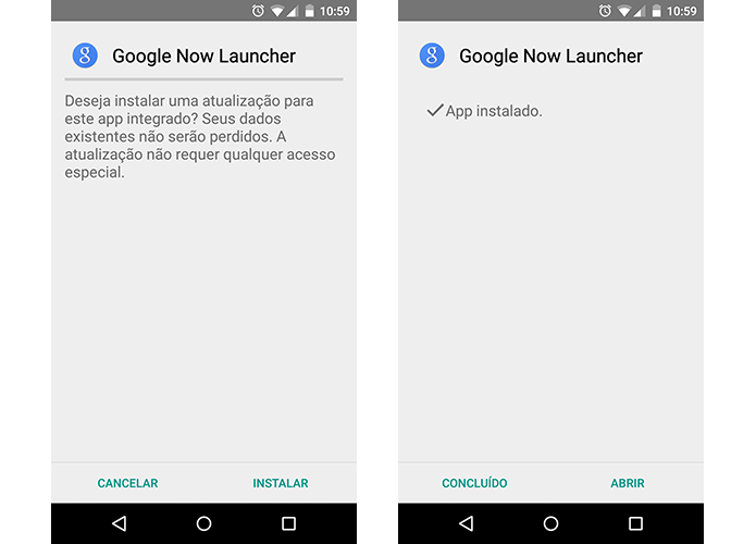 Instale o Google Now Launcher do Android Marshmallow (Foto: Reprodução/Paulo Alves)