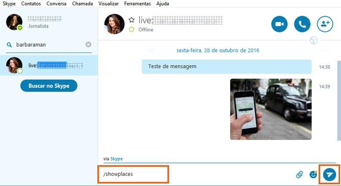 Adicione o comando para mostrar todos os dispositivos logados na sua conta Skype (Foto: Reprodução/Barbara Mannara)