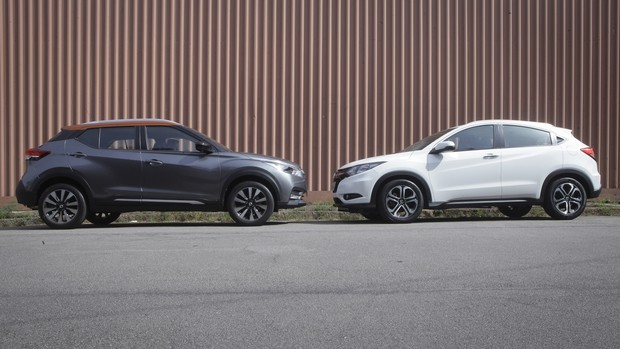 FOTOS: Nissan Kicks x Honda HR-V