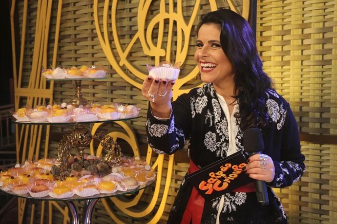 Shana Müller no Galpão Crioulo na Fenadoce (Foto: Gabriela Haas/RBS TV)