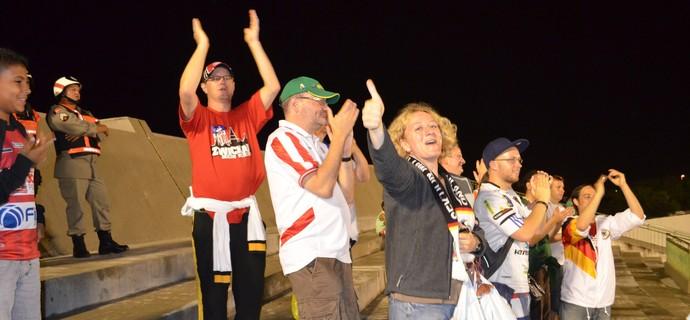 Alemães comemoram o gol do Botafogo (Foto: Hévilla Wanderley / GloboEsporte.com/pb)