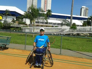 João Batista, tênis de cadeira de rodas de Uberlândia (Foto: João Batista / Arquivo Pessoal )