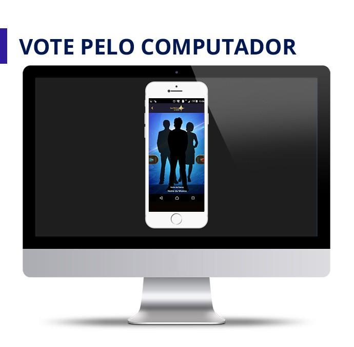 Arte Vote pelo computador (Foto: SuperStar / Gshow)