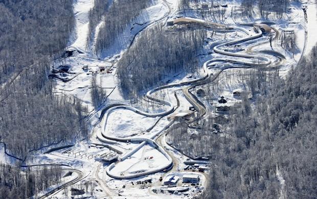 Centro de bobsled Sanki, em Sochi (Foto: Sochi2014.com)
