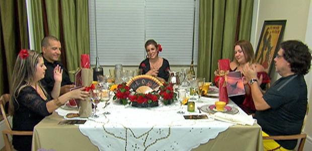 Jantar da Ana Carolina no Jogo de Panelas V (Foto: Mais Você / TV Globo)