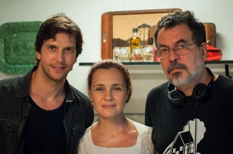 Vladimir Brictha, Adriana Esteves e Jorge Furtado (Foto: Divulgação)