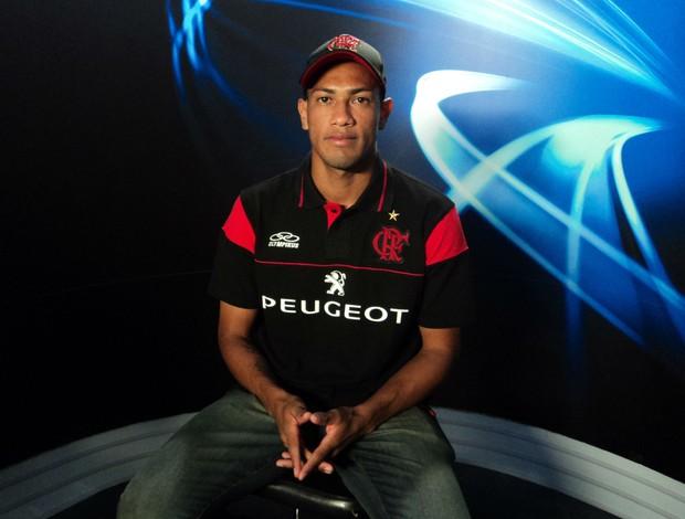 Hernades, atacante do Flamengo, no Arena SporTV (Foto: José Geraldo Azevedo / SporTV.com)