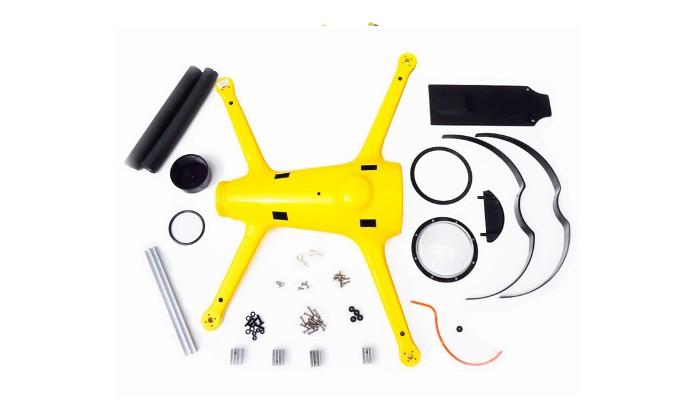 Kit para montar do drone QuadH2O (Foto: Divulgação/QuadH2O)