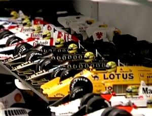 FRAME Senna homenagem exposição (Foto: Reprodução / Sportv)