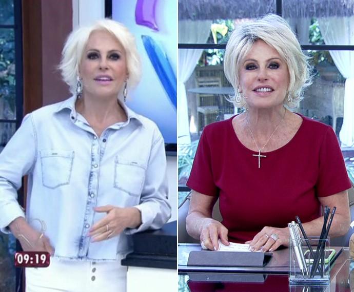 Ana Maria aparece com os cabelos menos platinados (Foto: TV Globo)