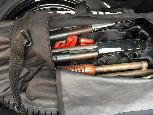 Armas apreendidas pelo Deic na região de Campinas durante operação  (Foto: Deic/Polícia Civil/SP )