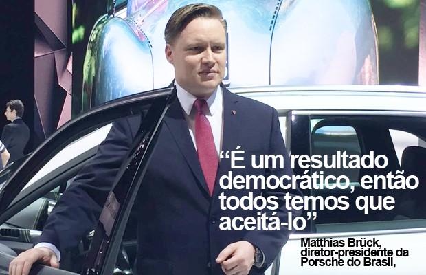 Matthias Brück, presidente da Porsche no Brasil (Foto: André Paixão/G1)