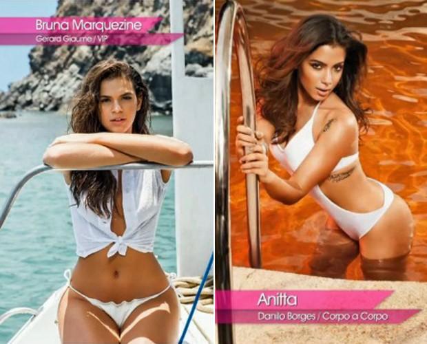c39aff758 Marquezine e Anitta aderem à moda praia 2015 (Foto  Mais Você TV Globo