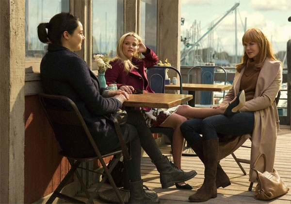 "Shailene Woodley, Reese Wintherspoon e Nicole Kidman, em ""Big Little Lies"" (Foto: Divulgação)"