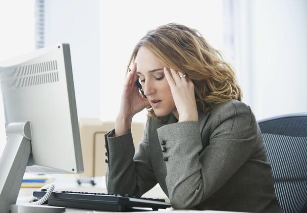 O estresse é o segundo problema de saúde relacionado ao trabalho mais frequente na Europa ; carreira ; cansaço no trabalho ; falta de energia no trabalho ;  (Foto: Dreamstime)