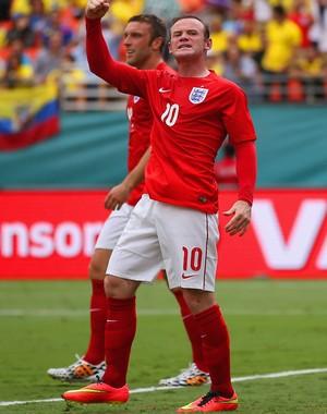 Rooney comemoração jogo Inglaterra x Equador amistoso (Foto: Getty Images)