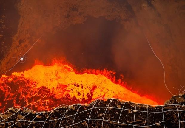 Sensores vão monitorar o vulcão Masaya, na Nicaragua (Foto: Qwake)