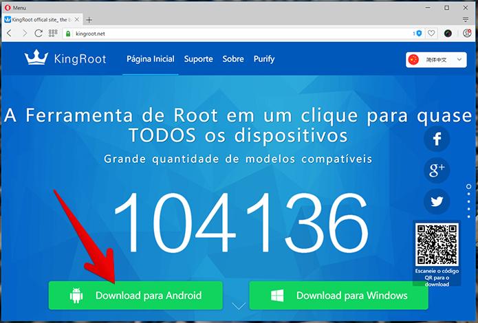 Baixe a versão Android do KingRoot (Foto: Reprodução/Filipe Garrett)