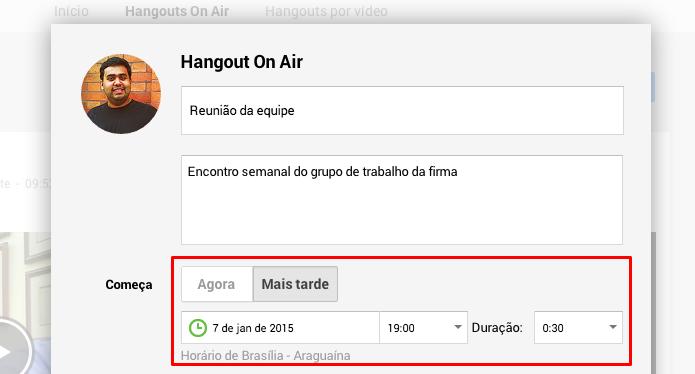 Agende um horário ou comece imediatamente (Foto: Reprodução/Paulo Alves)