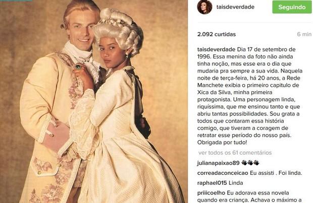 Tais Araújo (Foto: Instagram / Reprodução)