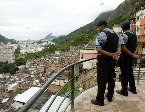 A UPP de Santa Marta, no Rio de Janeiro (Foto: André Teixeira / Agência O Globo)