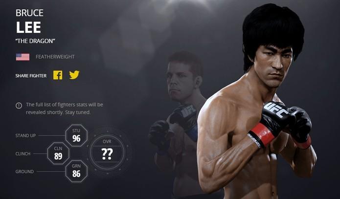 Bruce Lee está na lista dos lutadores lendários de UFC 2 (Foto: Divulgação/EA)
