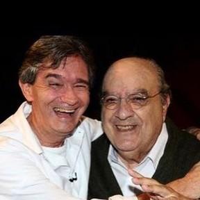 Serginho Groisman e Antônio Abujamra (Foto: Instagram/Reprodução)