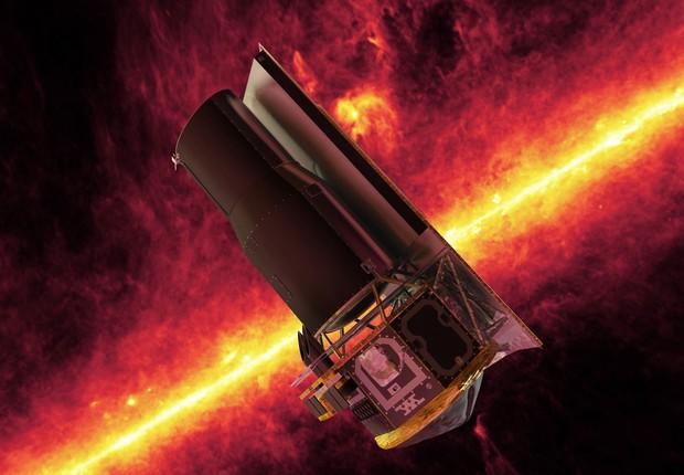 Imagem ilustrativa do telescópio Spitzer, da Nasa (Foto: NASA)