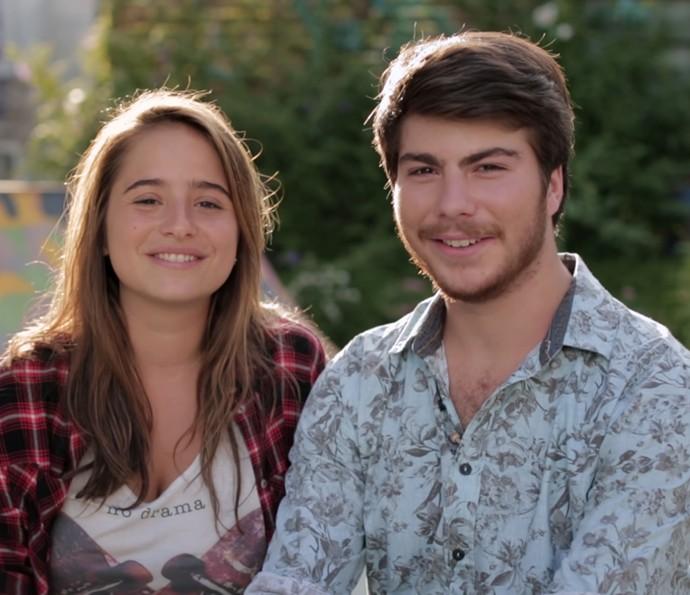 Camila e Henrique são só sorrisos! (Foto: Gshow)