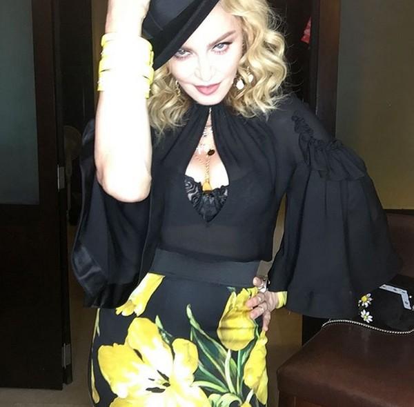 Madonna posou para foto em Cuba (Foto: Reprodução / Instagram)