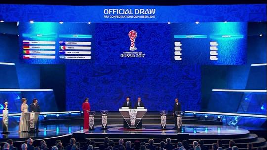 Chile e Alemanha entram no mesmo grupo, e Portugal escapa de pedreiras