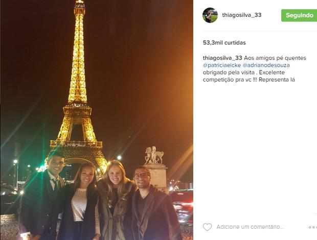 Thiago Silva e Mineirinho em Paris