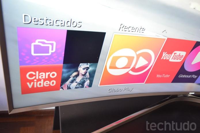 Smart TVs da Samsung vem equipadas com Tizen, novo sistema operacional para televisores (Foto: Melissa Cruz / TechTudo)