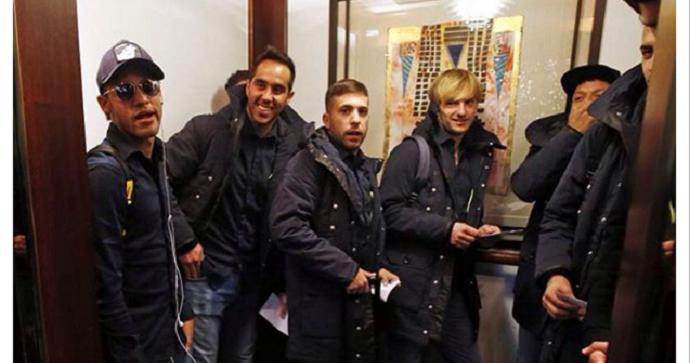 Neymar e jogadores do Barcelona em Colônia (Foto: Reprodução / Instagram)