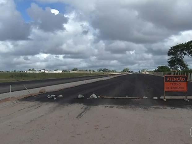 Entrega do acesso Norte foi adiado mais uma vez (Foto: Reprodução/Inter TV Cabugi)
