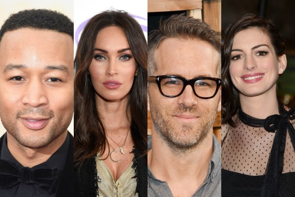John Legend, Megan Fox, Ryan Reynolds e Anne Hathaway (Foto: Getty Images)