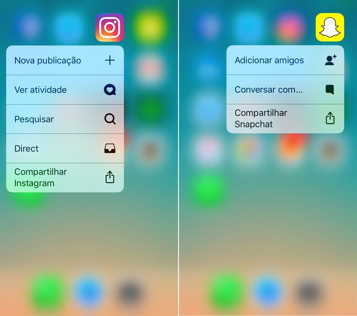 Conheça os atalhos do Instagram e do Snapchat (Foto: Reprodução/Lucas Mendes)