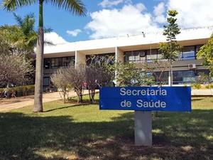 Fachada da Secretaria de Saúde do Distrito Federal (Foto: Raquel Morais/G1)