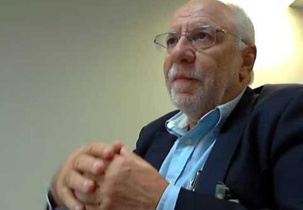 O ex-executivo da Odebrecht, Alexandrino Alencar, presta depoimento após acordo de delação com Lava Jato (Foto: Reprodução/YouTube)