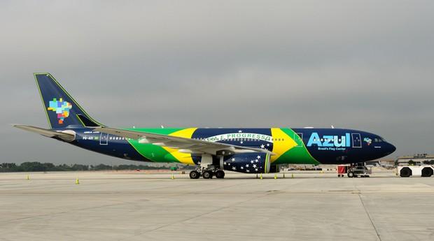 Avião da Azul: empresa reduziu sua frota para se ajustar à demanda menor em meio a dois anos de recessão (Foto: Wiki Commons)