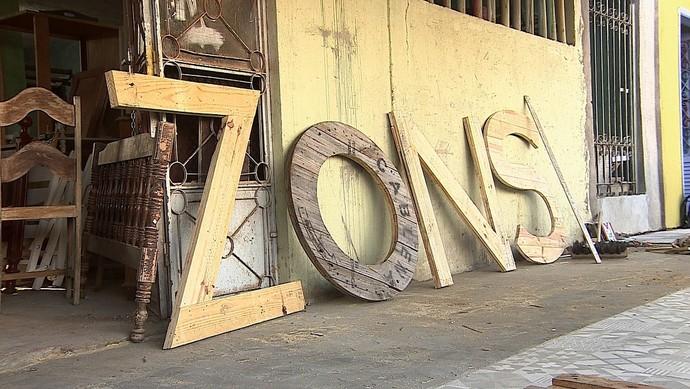 Zons, arte sustentável (Foto: TV Sergipe)