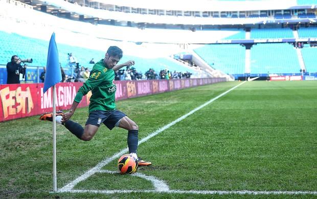 Neymar, Treino Seleção, Arena Grêmio (Foto: Jefferson Bernades / Vipcomm)