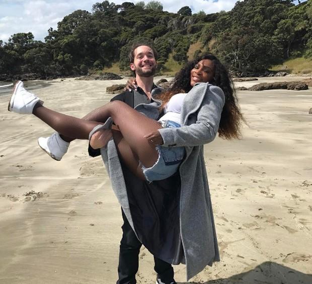 Serena Williams e o noivo Alexis Ohanian (Foto: Reprodução/Instagram)