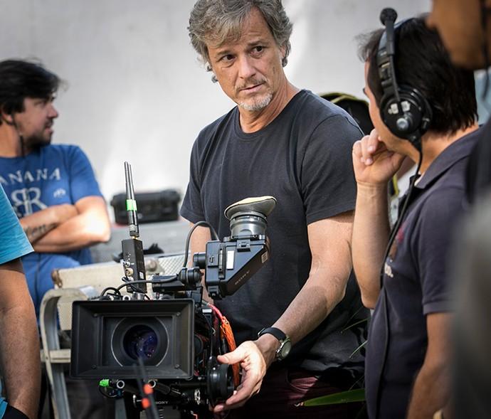 De trás das câmeras, Marcello acompanhou o trabalho de Pedro Novaes (Foto: Raphael Dias / Gshow)