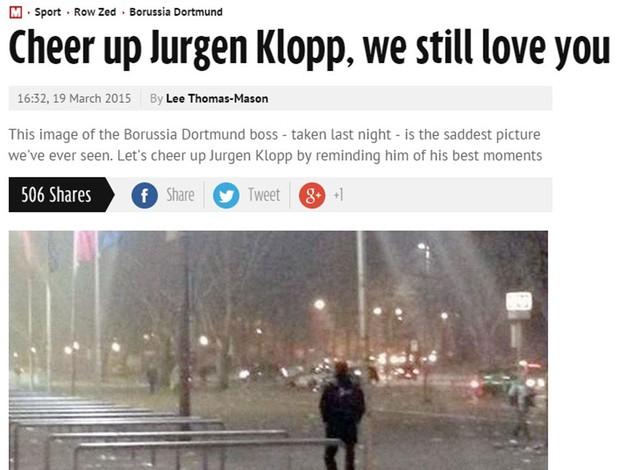 Klopp deixa o estádio andando após eliminação