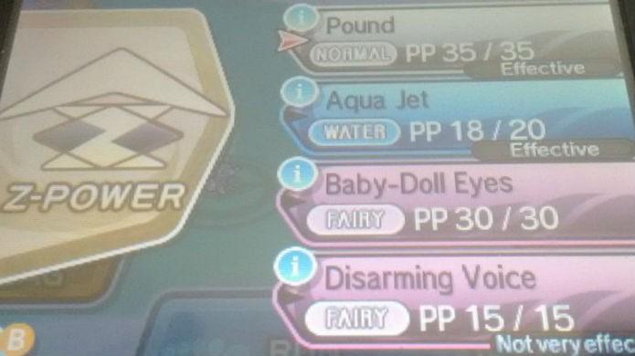 Pokémon Sun e Moon: o Z-Move aparece no canto esquerdo da tela (Foto: Reprodução / Thomas Schulze)