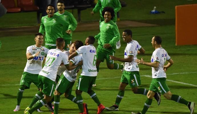 Gol Hyoran Chapecoense (Foto: André Durão)