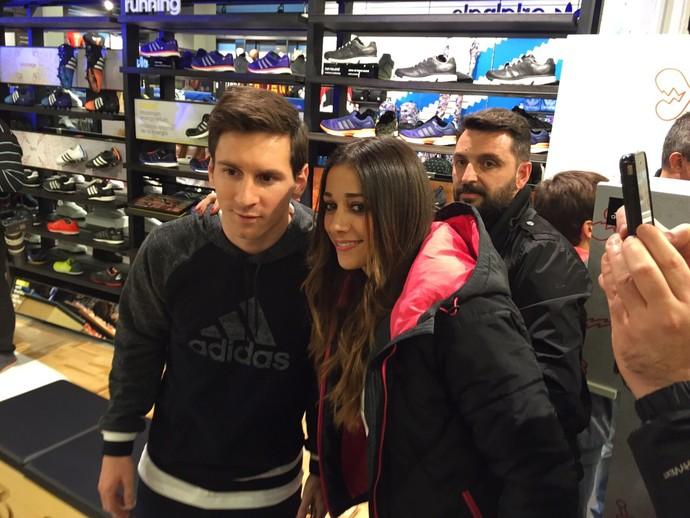 Messi evento adidas barcelona (Foto: Cássio Barco)